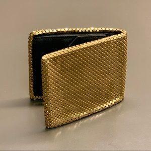 Whiting & Davis Vintage Bifold Gold Mesh Wallet